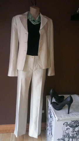 Armani Collezioni  tan career pants suit, size 4