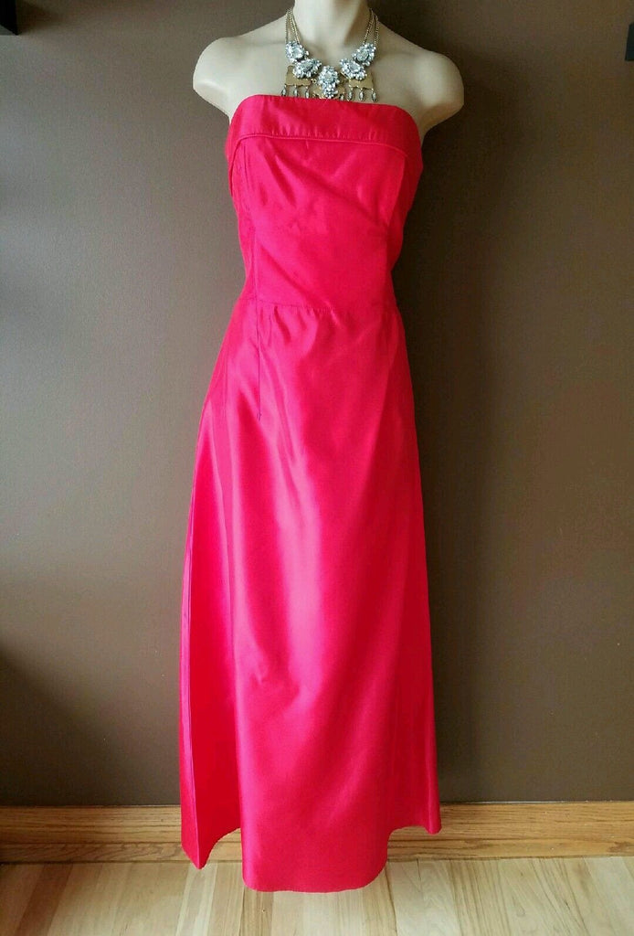 Jessica McClintock red formal strapless dress Sz 7/8. Made for Gunne Sax