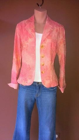 NEW Coldwater Creek multi-color button down blazer Sz 4,