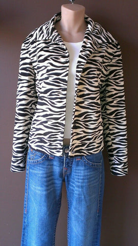 Bernardo Collection zebra patterns jacket size medium