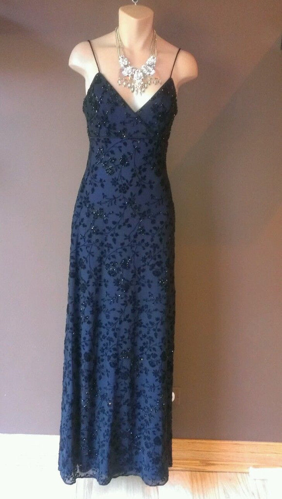 Rimini by Show formal black sleeveless laced  dress Sz 4
