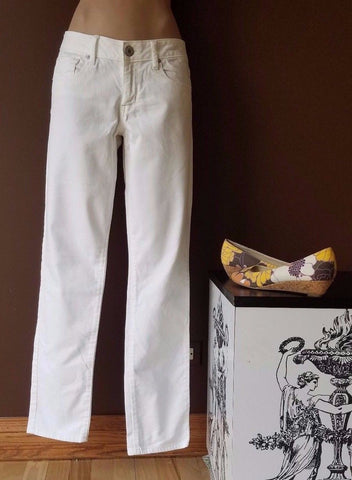 American Eagle white denim pants Sz 8