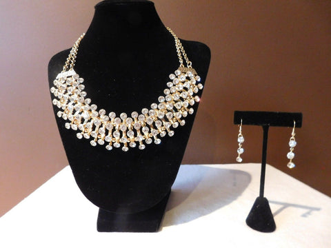 NEW Costume  fashion jewelry set: Bling necklace and earrings