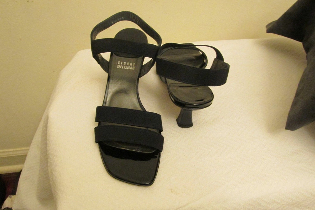 Stuart Weitzman navy blue sandals Sz 8M, excellent condition