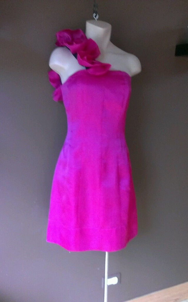 Fabulous Phoebe Couture magenta dress Sz 6, excellent condition