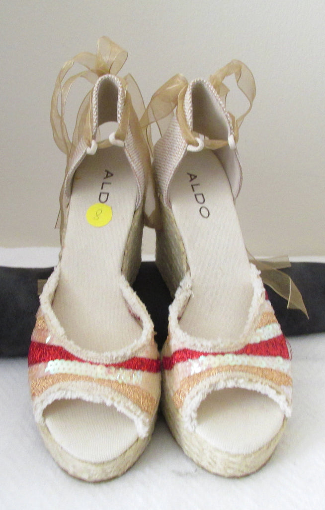 NEW Aldo wedge sandals Sz 8 M, great for casual wear!