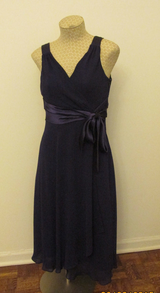 Evan Picone purple dress with a sash on the side Sz 6, New