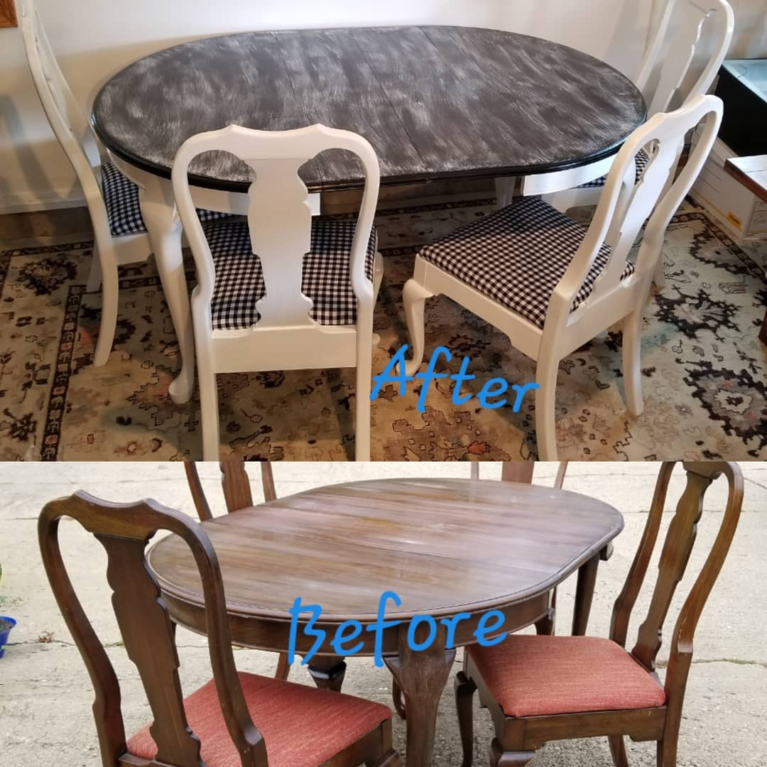 Pennsylvania House Dining Table And Four Chairs Lz Fashionista Resale