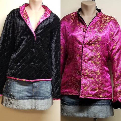 David Brooks reversible velvet jacket, size large