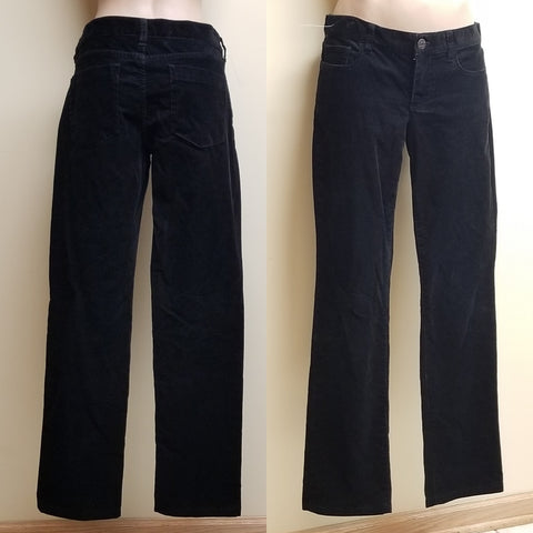 J. Crew black corduroy pants city fit, size 28R