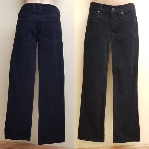 J. Crew black corduroy pants favorite fit, size 27S