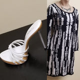 Jeans By Buffalo black and white dress, size medium