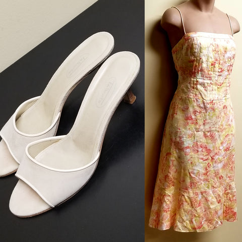 Ann Taylor floral strapless summer dress, size 6