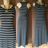 Active Basic black and white maxi dress, size small