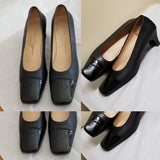 Salvatore Ferragamo Boutique black pumps with emblem, Sz 9 2 A, great for work