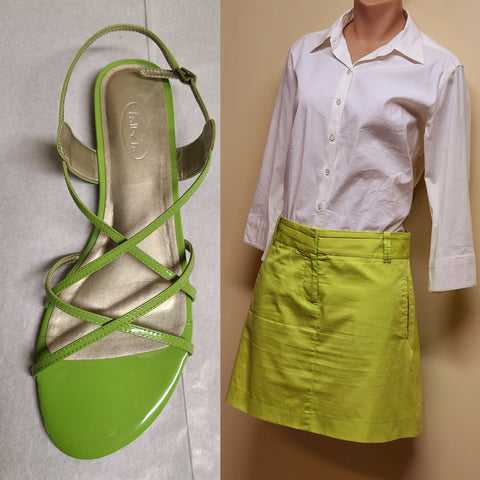 J. Crew short green cotton skirt, size 8