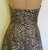 Jessica McClintock brown halter top dress Sz 2, excellent condition