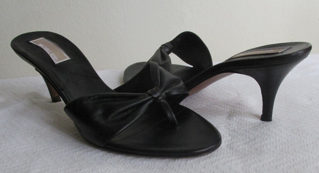Micheal Kors black sandals Sz 8 M, made in Italy, excellent condition!