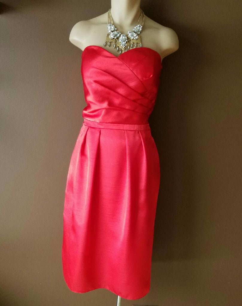 Jasmine  sleeveless red dress Sz 10, can be worn with or without straps