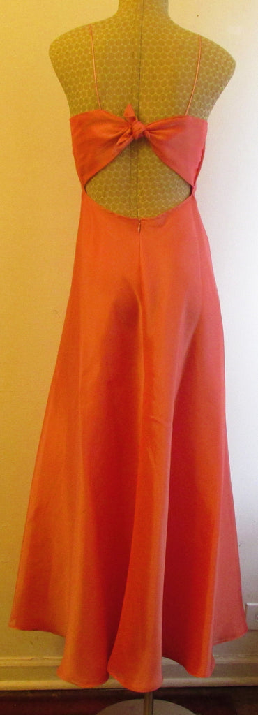 Scene Elegant Orange/Pink Undertone Dress Size 5/6 NEW!