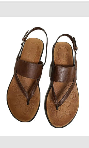 Born Concept brown thong sandals, size 7 M
