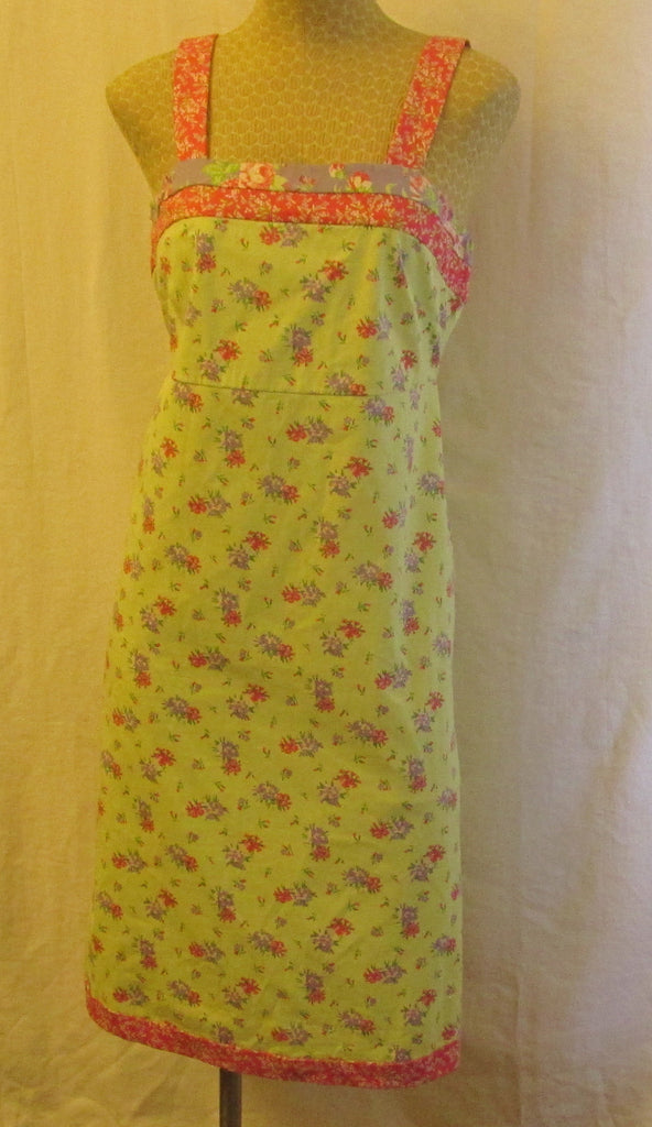 Hanna Andersson green floral dress Sz 8, excellent condition
