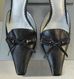 BCBG Paris black sandals Sz 7.5 M, excellent condition