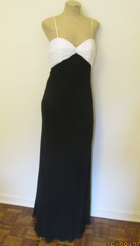 Cachet black and white elegant formal dress Sz 10, NEW