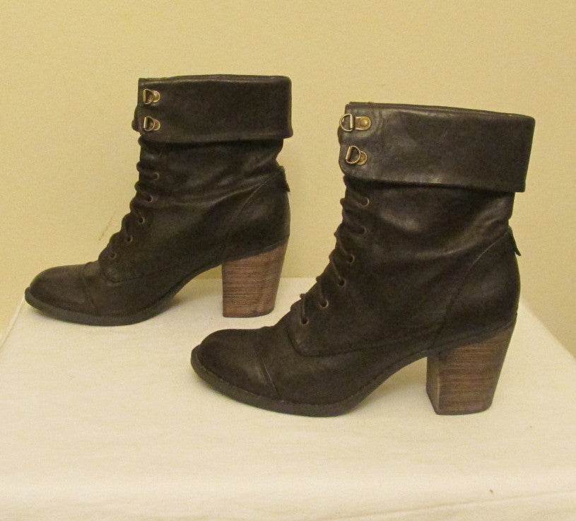 Diba brown lace ups ankle boots Sz 9 M, excellent condition!