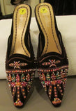 Matisse multi-color sandals with decorative beads Sz 7M, excellent condition!