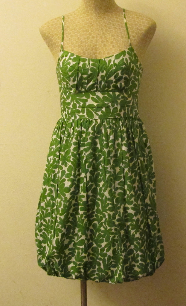 London Times green and white dress Sz 2, excellent condition