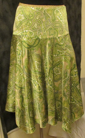 NEW I.N.C International Concept 100% silk paisley print skirt!