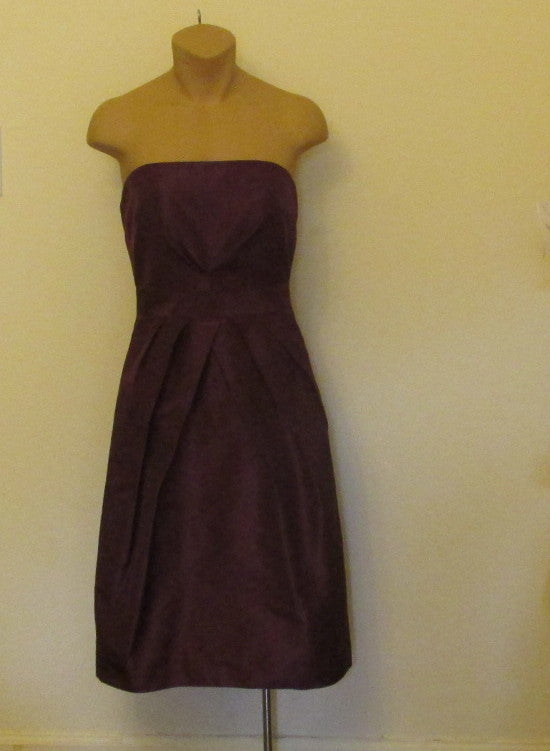 J. Crew burgundy (spiced wine) Strapless dress Sz 2 , NEW. Great for Homecoming!