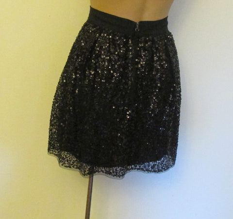 J. Crew black sequins skirt Sz zero, excellent condition
