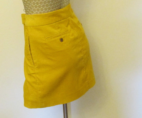 J. Crew HGL yellow skirt Sz zero, NEW!