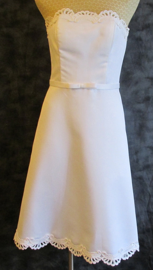 Jessica McClintock white bridal dress Sz 4, excellent condition!