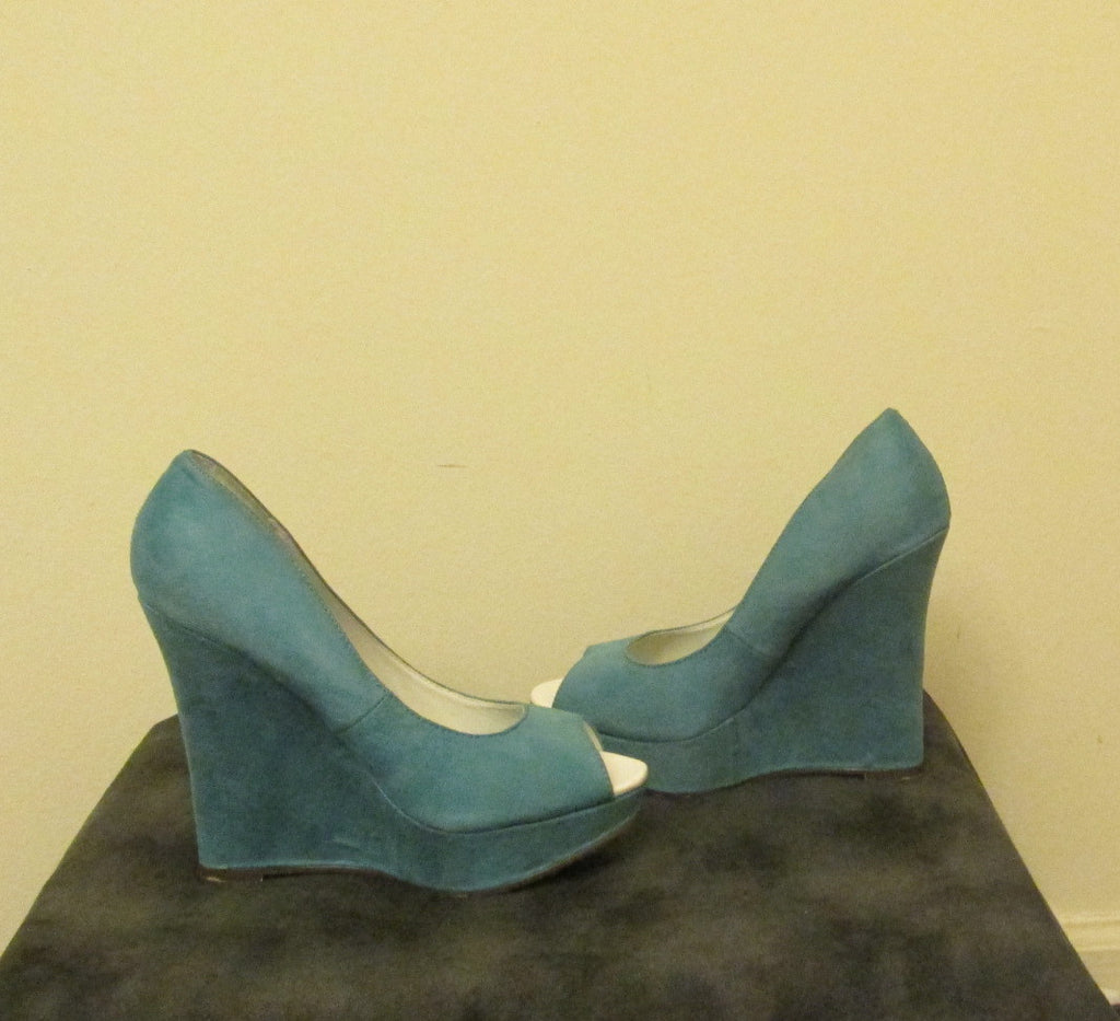 Micheal Antonio blue wedged shoes Sz 6.5 M, NEW
