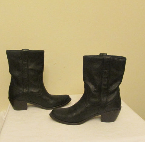 Steve Madden black cowboy boots Sz 7 M, excellent condition