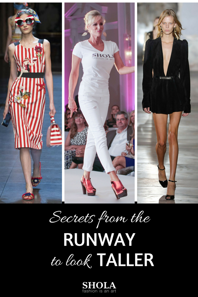 Secrets from the runway to look taller