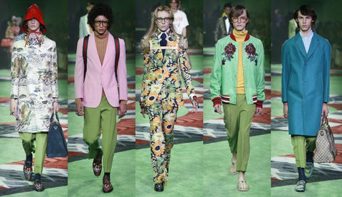Gucci fashion show greenery