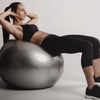 Woman working out on an exercise ball
