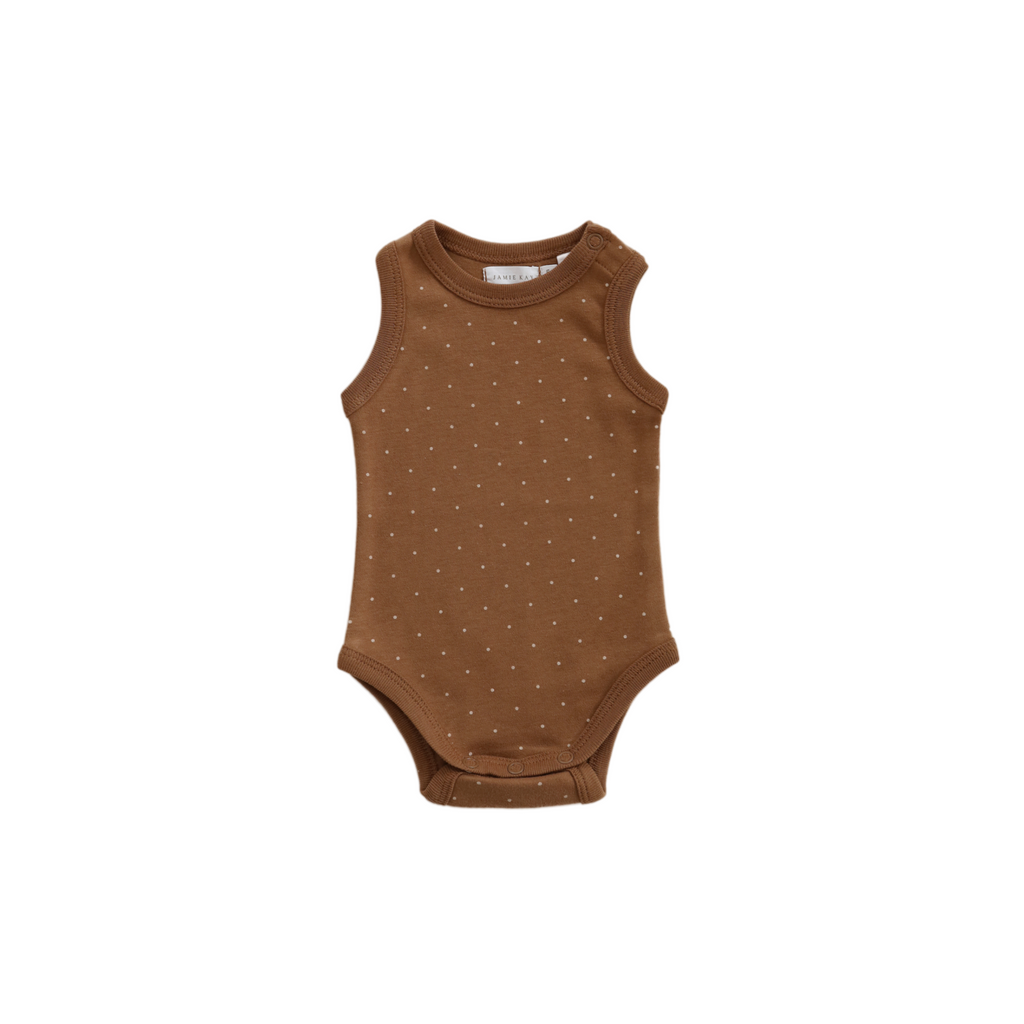 Jamie Kay - Organic Cotton Singlet Bodysuit - Tiny Dots