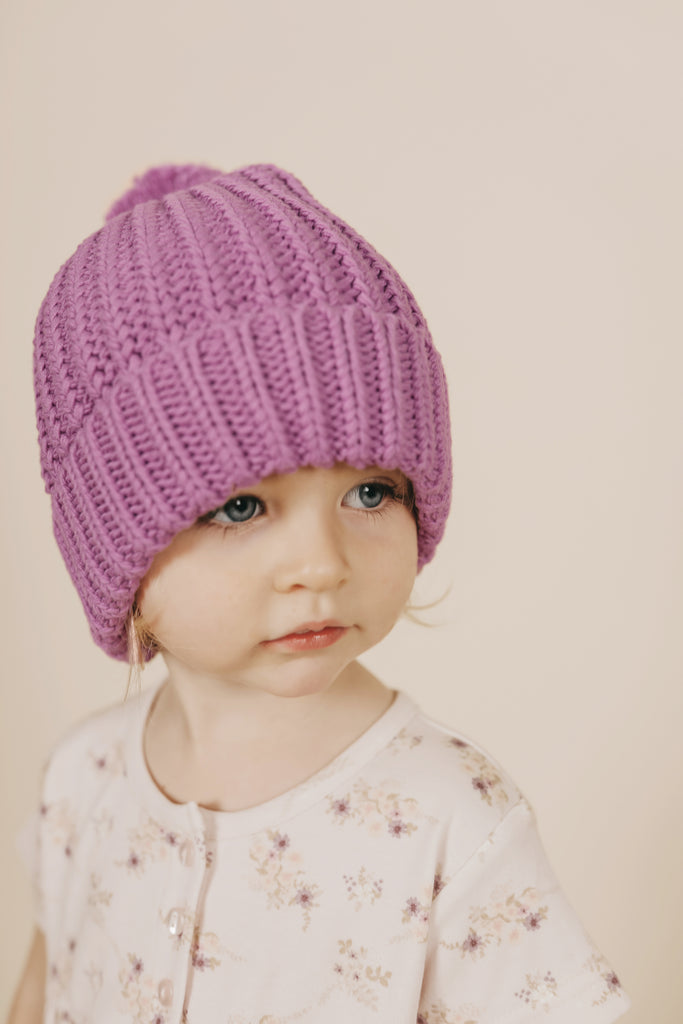 Jamie Kay - Cosy Hat - Grape