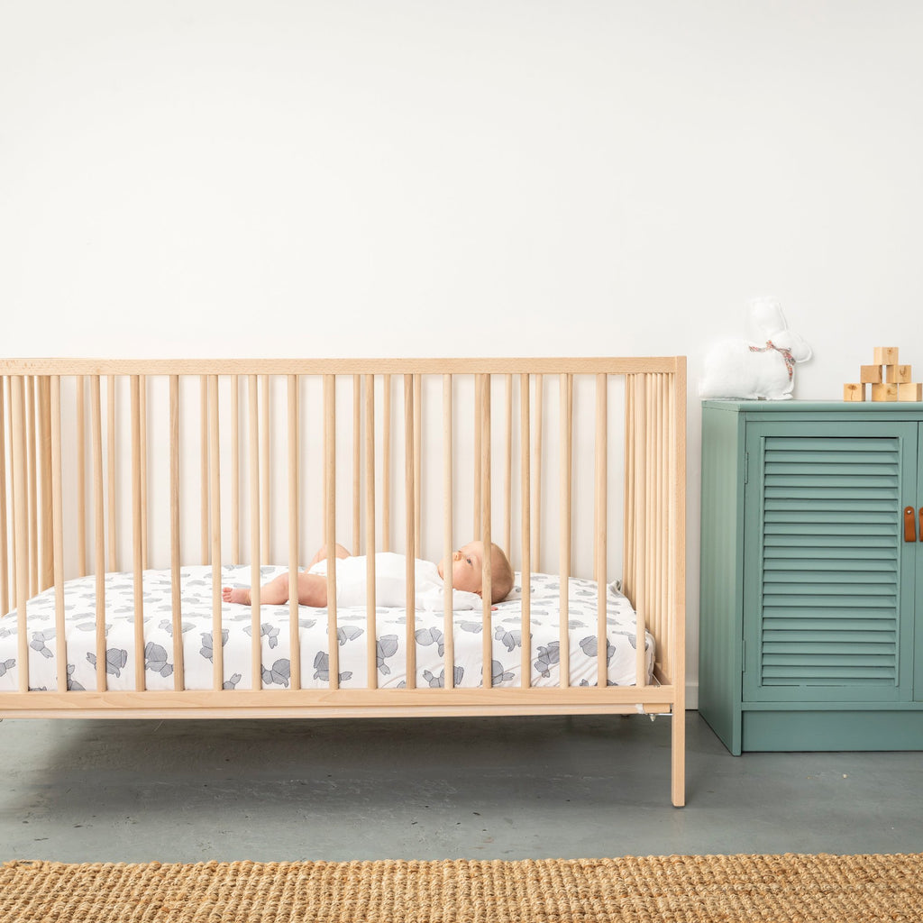 Little ones will feel warm and cosy in every season with our soft and luxurious ranges of swaddles, sleeping bags, comforters and quilts from Burrow & Be, Eddy & Moss, Nature Baby and more. Our varity of organic cot fitted sheets made from breathable cotton percale or comfortable cotton sheets. You will love our curated, quality and beautifully range of products to choose from instore and online. Shipping available in NZ.