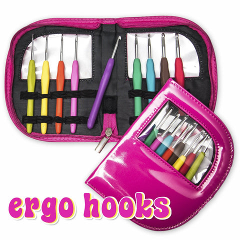 Ergo Hooks Set Of 9 Color Coded Ergonomic Crochet Hooks With Case