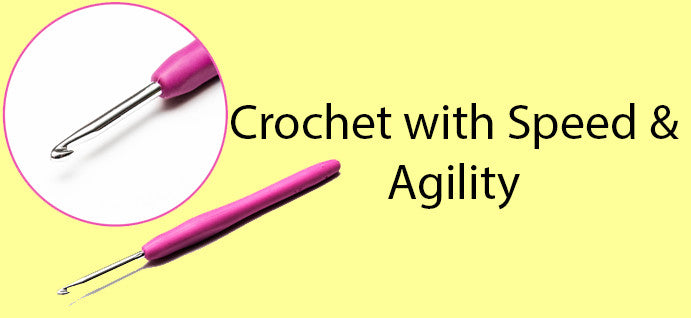 Smooth Aluminum allows crocheting with speed and agility