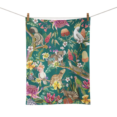 Tea Towel Aussie Animals