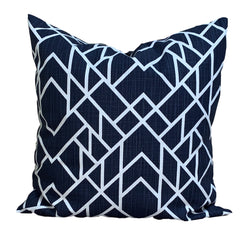 Navy and White Geometric