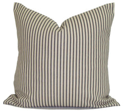 Home Decor, Farmhouse pillow, ticking pillow, popular pillow