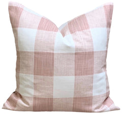 Blush Pink Buffalo Check